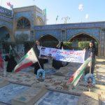 اعزام دانش آموزان دختر خدابنده ای به اردوی راهیان نور+ تصاویر