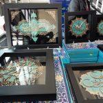 برپایی نمایشگاه کتاب و معرق در خدابنده+تصاویر