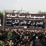 اجتماع بزرگ عاشوراییان در عصر تاسوعای حسینی در خدابنده+تصاویر