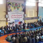 تجمع بزرگ بسیجیان شهرستان خدابنده+تصاویر